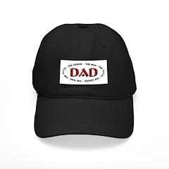Dad - The Legend Black Cap
