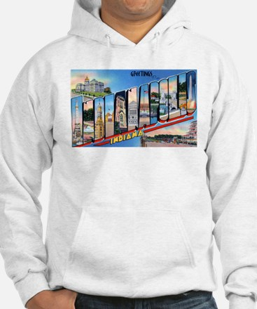 Indianapolis Indiana Greetings (Front) Hoodie