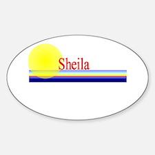 Sheila Oval Decal