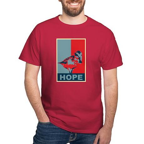 Hope: Spoon-billed Sandpiper Birding T-Shirt Dark