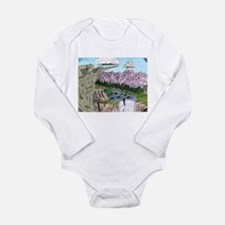 """Cliffs and Mountains"" Long Sleeve Infant Bodysuit"