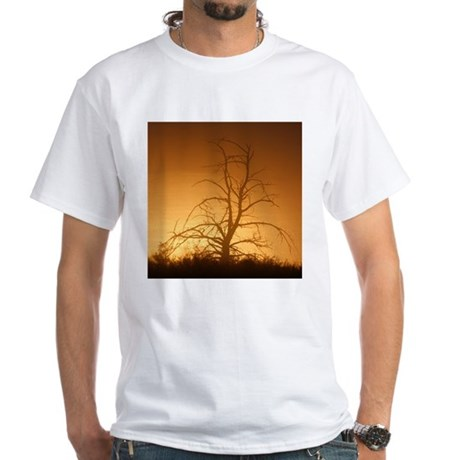 Tree over water White T-Shirt