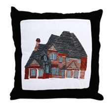 Architectural drawing by Noah Filk. Throw Pillow
