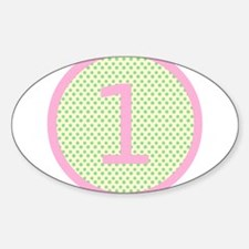 Pink and Mint Green First Birthday ONE Decal