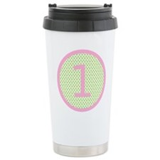Pink and Mint Green First Birthday ONE Travel Mug