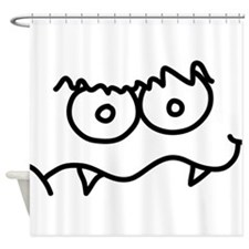 Silly Monster Face - Two Tooth Shower Curtain