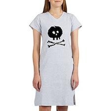 Skull and Cross Bones - Rough Women's Nightshirt