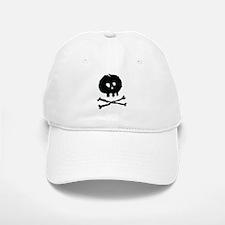 Skull and Cross Bones - Rough Baseball Baseball Cap