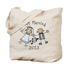 Stick Just Married 2013 Tote Bag