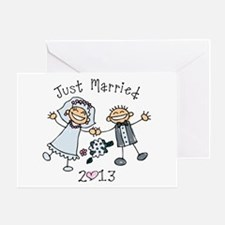 Stick Just Married 2013 Greeting Card