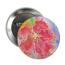 "Flower! Bright floral art! 2.25"" Button"