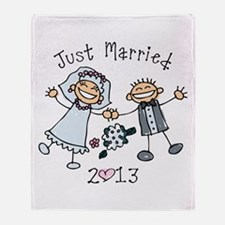Stick Just Married 2013 Throw Blanket