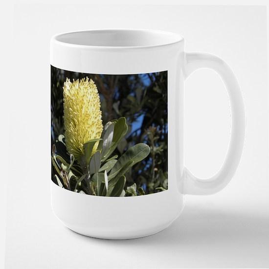 Australian Wildflowers - banksia Large Mug