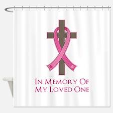 In Memory Cross Shower Curtain