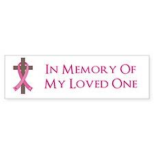 In Memory Cross Bumper Sticker