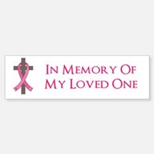 In Memory Cross Sticker (Bumper)