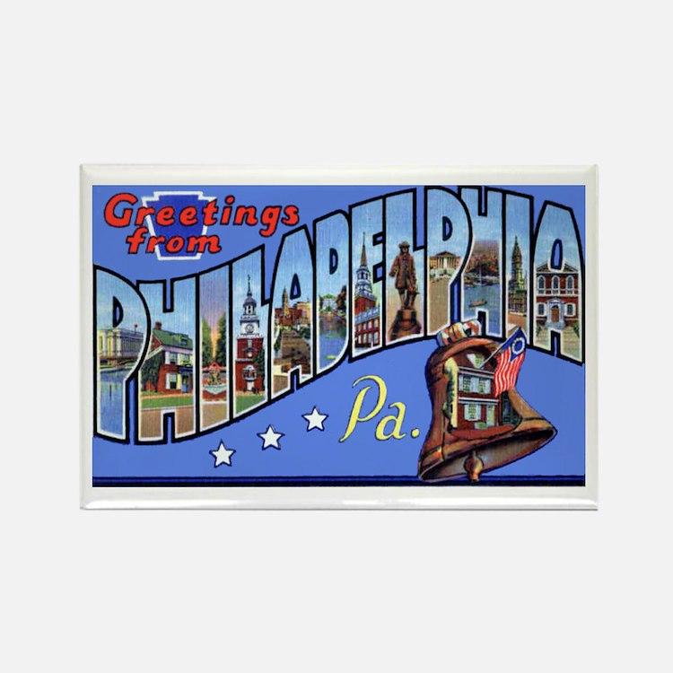 Philadelphia Pennsylvania Greetings Rectangle Magn