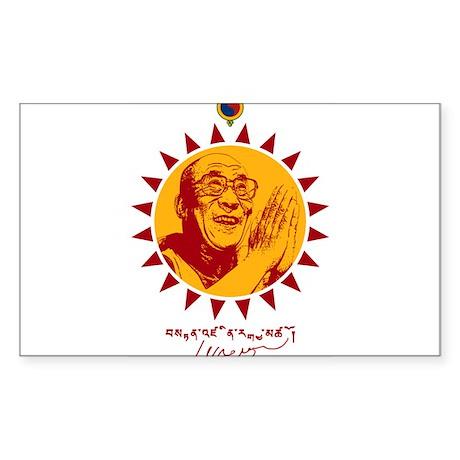 Dalai Lama Sticker (Rectangle)
