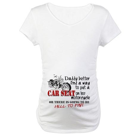 Baby Biker Attitude Maternity T-Shirt