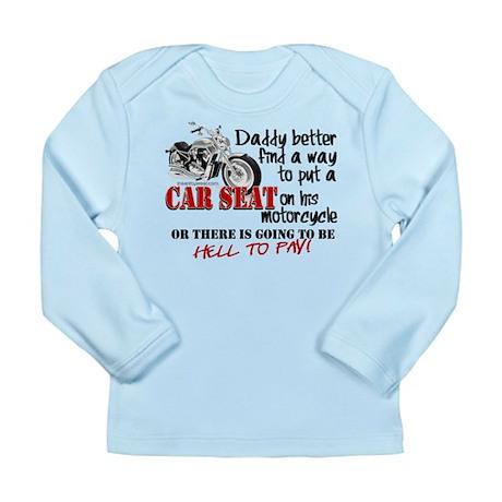 Baby Biker Attitude Long Sleeve Infant T-Shirt