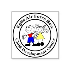 """Eglin AFB CDC Logo Square Sticker 3"""" x 3&quot"""