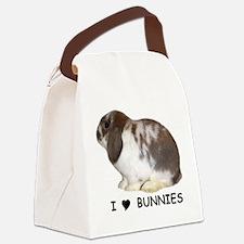 i love bunnies Canvas Lunch Bag