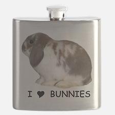 i love bunnies Flask