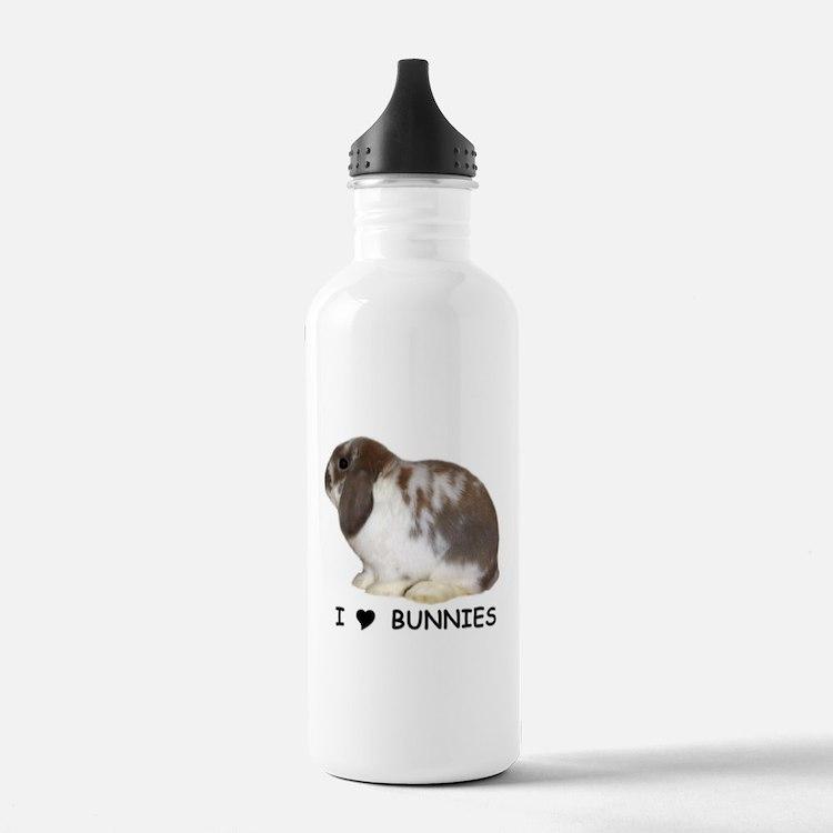 i love bunnies Water Bottle