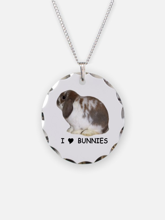 i love bunnies Necklace