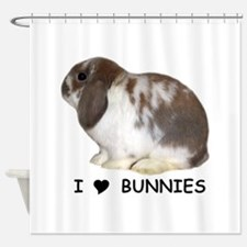 i love bunnies Shower Curtain