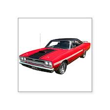 "1970 Plymouth GTX Square Sticker 3"" x 3"""
