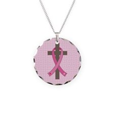 Breast Cancer Cross Necklace