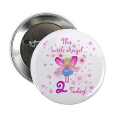 Birthday Angel 2nd Birthday Button