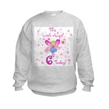 Birthday Angel 6th Birthday Sweatshirt