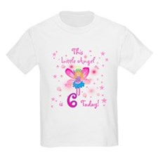 Birthday Angel 6th Birthday Kids T-Shirt