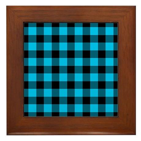 2-Tone Plaid Framed Tile