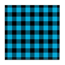 2-Tone Plaid Tile Coaster