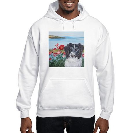 """Border Collie"" Hooded Sweatshirt"