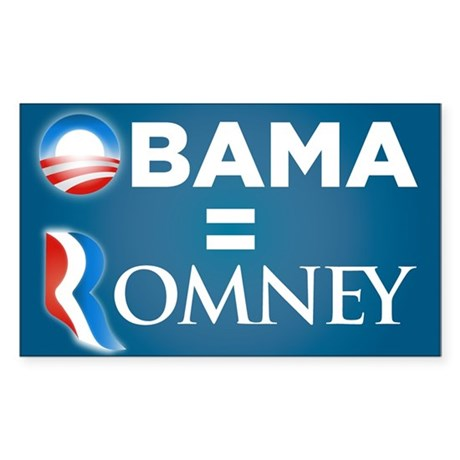 Obama = Romney Window Sticker
