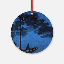 Shubi Pine - anon - 1900 - woodcut Round Ornament