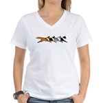 Group O' Shelties Women's V-Neck T-Shirt