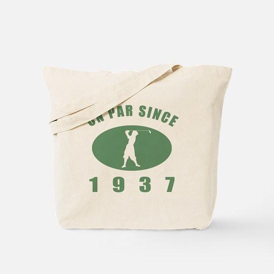 1937 Golfer's Birthday Tote Bag