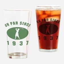 1937 Golfer's Birthday Drinking Glass