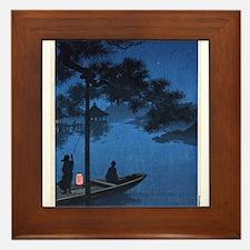 Shubi Pine - anon - 1900 - woodcut Framed Tile