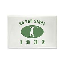 1932 Golfer's Birthday Rectangle Magnet