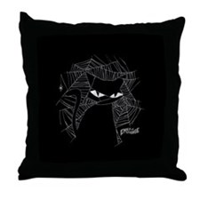 Cat Web Throw Pillow