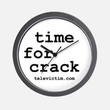 """time for crack"" Wall Clock"