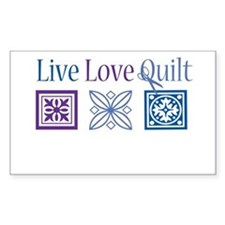 Live Love Quilt Bumper Stickers