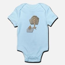 Enclosed Yard and Tree Infant Bodysuit