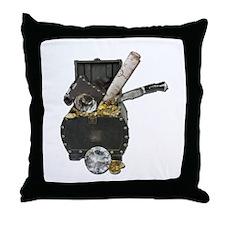 Treasure Chest Map Dagger Throw Pillow